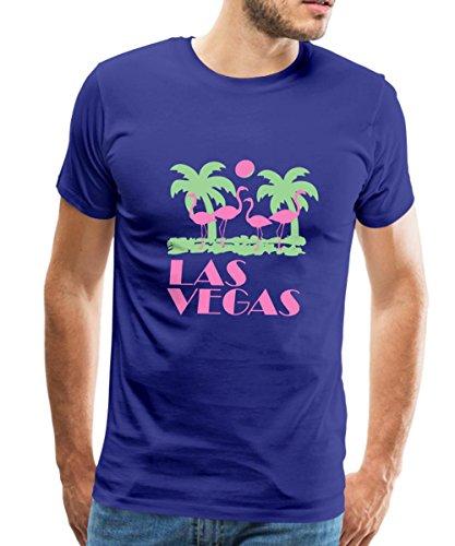 Spreadshirt Las Vegas Flamingos Men's Premium T-Shirt, 5XL, royal blue - Flamingo Las Vegas