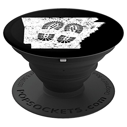 Day Hiking Arkansas Hiking Boots Prints - PopSockets Grip and Stand for Phones and Tablets