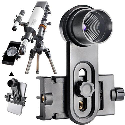 Landove 1.25inch Universal Smartphone Eyepiece Adapter - 10mm Kellner Eyepiece Design by Landove