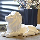 BWLZSP Nordic style lucky lion geometric animal ornaments crafts living room console cabinet creative home soft decorations AP5091138 (Color : White)