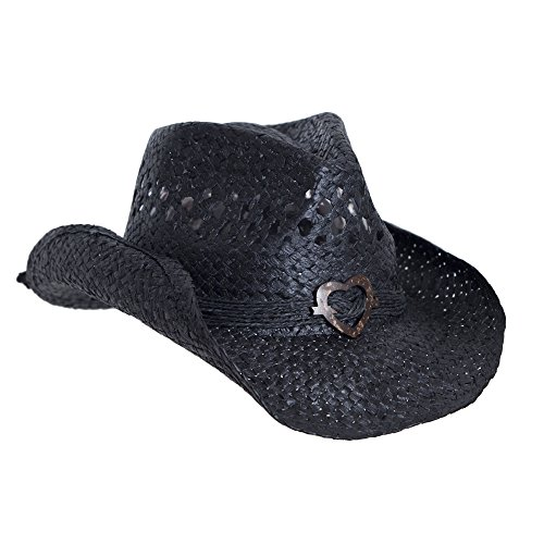Black Cowboy Hat for Women with