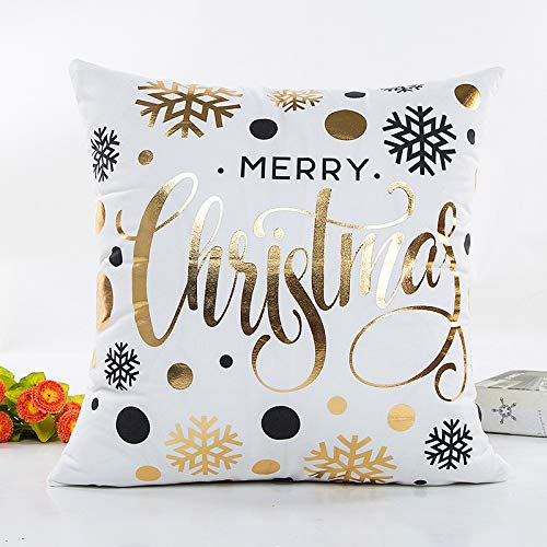 XUELIEE 3 pcs Merry Christmas Pillow Case Christmas Tree Xmas Pillow Cover 18 x 18\