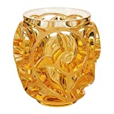 Lalique Tourbillons SS Vase - Amber