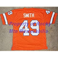 $223 » Broncos Dennis Smith Autographed Signed Tb Orange Jersey (Size XL) with Dual Inscriptions & JSA -Coa