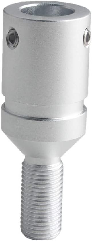 DEWHEL Custom Aluminum Universal Shift knob Shifter Adapter for Non Threaded Shifters BMW Mini M10X1.5 Black