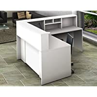 OfisLite 4 Piece Reception Desk Center Model 2138 Complete Group, White