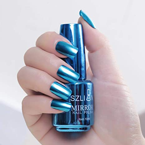 Espejo Esmalte De Uñas Magic Metallic Barniz Efecto Espejo Esmalte De Uñas Nail Art Pintura Esmalte De Uñas 18 Ml