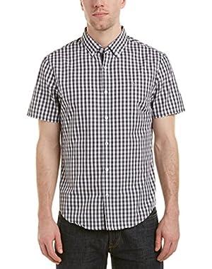 Mens Woven Shirt, M, Black