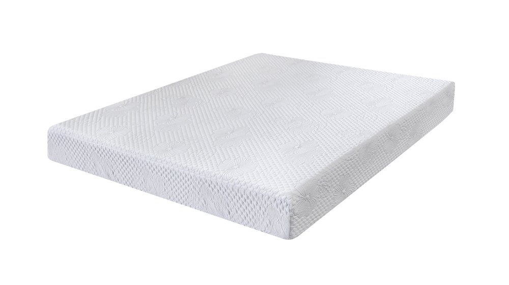 PrimaSleep 8 in Solar Memory Foam, Twin,White Mattress