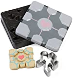 Portal Companion Cube Cookie Cutters (Set of 8) - Officially Licensed Novelty Cookie Cutters Based on the Portal Video Game