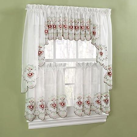 Gisela Rose Kitchen Curtains Swags Amazon Co Uk Kitchen Home