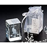 Blessed Prayer Laser Etched Crystal Favor Set (Pack of 10 Sets)
