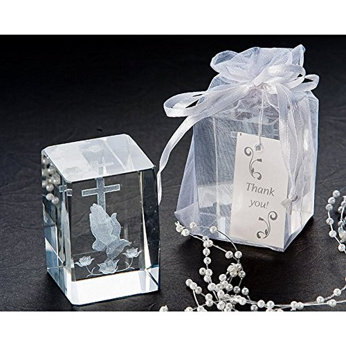 Blessed Prayer Laser Etched Crystal Favor Set (Pack of 8 Sets) by AD