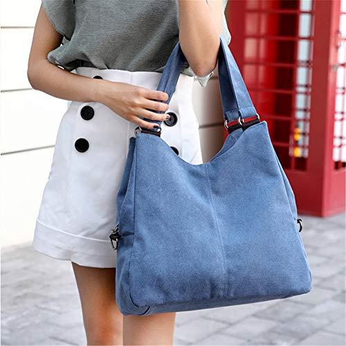 Callejero Bolso de Bolsos Tote Bolso de Bag Mano Hobos Azul Gris Bandolera Mujer Hombro Sg8UwFxtq