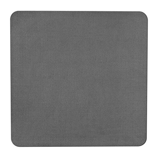 House, Home and More Skid-Resistant Carpet Indoor Area Rug Floor Mat - Gray - 3 Feet X 3 Feet