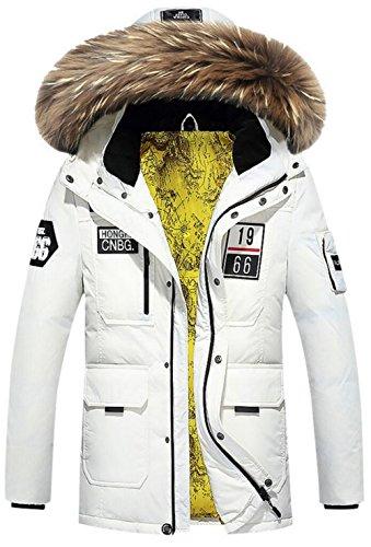 JIAX Men's Casual Winter Warm Thicken Hooded Down Jacket ...