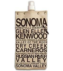 Sonoma Metro diseño agua, vino y bebidas lona reutilizable frasco y Tote Carrier Holds 750ml/26oz