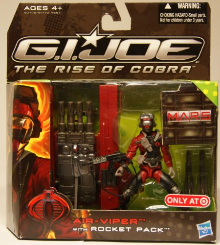 G.I. Joe Movie The Rise of Cobra Exclusive M.A.R.S. Troopers Action Figure AirViper with Rocket Pack - Exclusive Gi Joe Rise