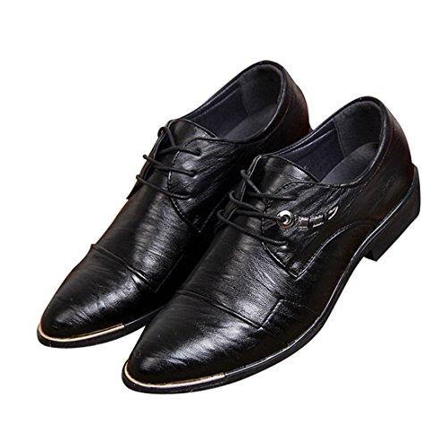 à de Chaussures Lacets Noir Ville Chaussures Oxfords PU Pour Neuves Bout Cuir D'Affaires Hommes 0T11B6