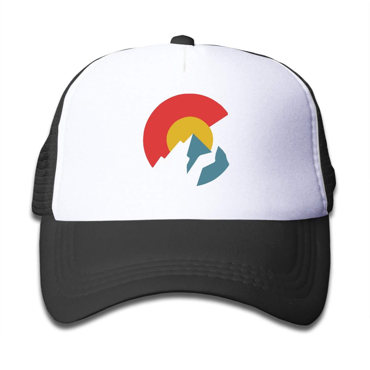 Waldeal Mountain Colorado C Kindergarten Cool Baseball Cap Truck Driver Net Cap Suitable for Children