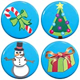 snowman refrigerator magnet - Buttonsmith Christmas Icons 1.25