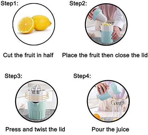 fangzhuo Exprimidor Manual Exprimidor De Cítricos Manual Portátil para Exprimidor De Fruta De Limón Naranja Taza De Jugo De Naranja Vida Saludable para Niños Bebible