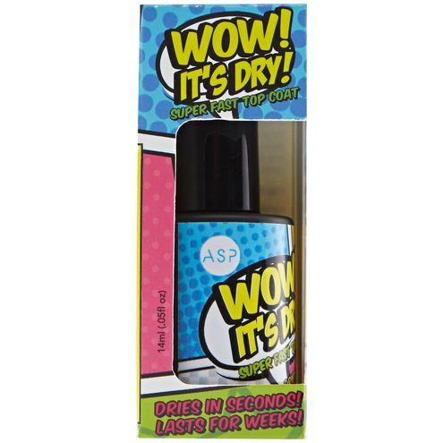 ASP WOW ITS DRY SUPER FAST TOP COAT NAIL POLISH- .5oz