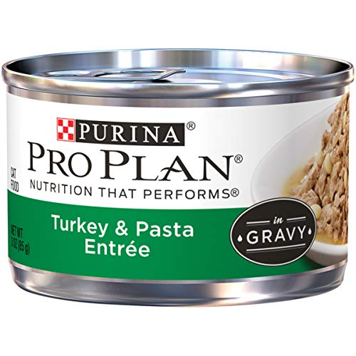 Purina Pro Plan Gravy Wet Cat Food; Turkey & Pasta Entree - 3 oz. Pull-Top Can