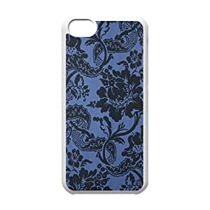 Cool Painting Blue Flowers DIY Cover Case for Iphone 5C,personalized phone case case612484