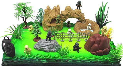 Black Ops - Special Forces Birthday Cake Topper Set Featuring Themed Figures and -