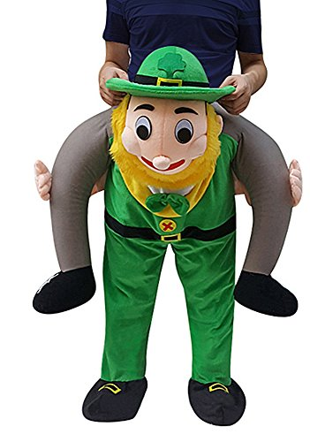Creative Apparel Leprechaun Funny Piggyback, Ride-on Shoulder, Carry Me Costume for Adults, One Size ()