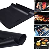 BBQ Grill Mat Make Grilling Easy Bake NonStick Grilling Lot of 2...
