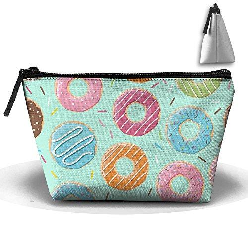 Doughnut Storage Build Clutch Bag Travel U Pouch Organizer Trapezoid g47BwRqA