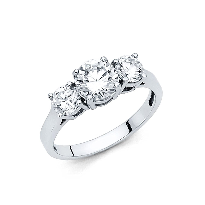 1.00 Carat (ctw) 14k Gold Round Engagement Ring