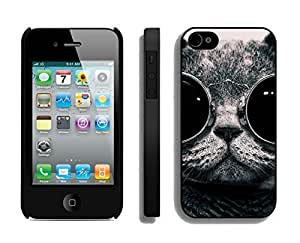 Personalized Christmas Cat With Black Sunglass Black PC Ipod Touch 4s,Apple Ipod Touch 4 Case