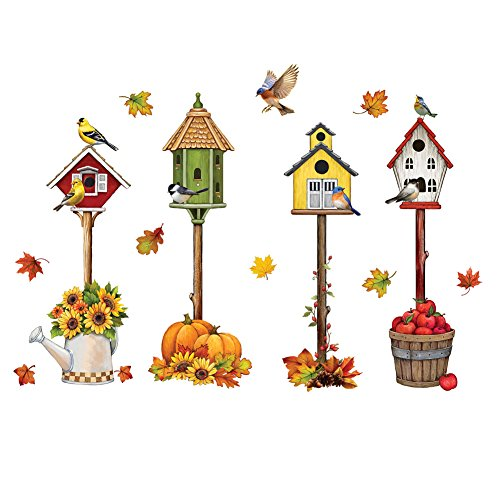 Collections Etc Fall Accents Garage Door Magnet with Birdhouses, Outdoor -