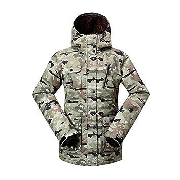 Zjsjacket Traje de Esqui Camuflaje de Las Mujeres Traje de Nieve Abrigo  Deportes al Aire Libre 022e946c6ea