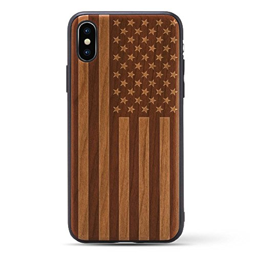 Laser Engraved Cherry Wood Case For iPhone X/10 2017 version Compatible with New iPhone X Rubber Grip Bumper Screen Protection Natural Wood | - Priority Have Does Tracking Usps