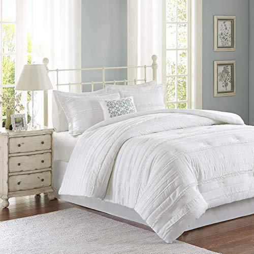 Madison Park Celeste 5 Piece Comforter Set White Queen (Renewed)