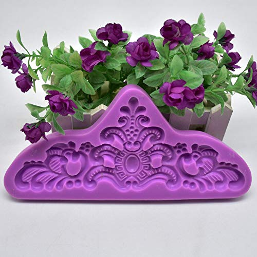 (Clay Extruders - Diy Baking Silicone Mold Embossed Flower Shape Cake Fondant Chocolate Clay Decorative Mould 8 - Presses Clay Mixers Professional Extruders)
