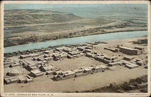 Amazon.com: Aerial View San Felipe Pueblo, New Mexico Original Vintage Postcard: Entertainment Collectibles