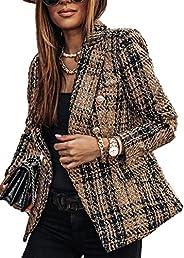 Cocoinsity Women Elegant Blazers Jacket Long Sleeve Office Slim Blazer Coat Outwear