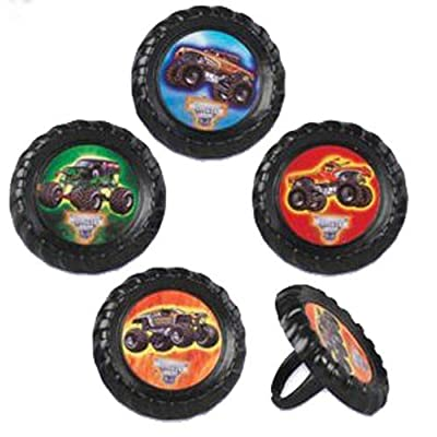 Monster Truck Jam Cupcake Rings - 12 ct by Bakery Crafts: Toys & Games