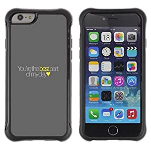 LASTONE PHONE CASE / Suave Silicona Caso Carcasa de Caucho Funda para Apple Iphone 6 PLUS 5.5 / you're the best yellow love heart text