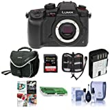 Panasonic Lumix DC-GH5s Mirrorless Camera Body - Bundle With 32GB SDHC U3 Card, Spare Battery, Camera Case, Cleaning Kit, Memory Wallet, Card Reader, Software Package