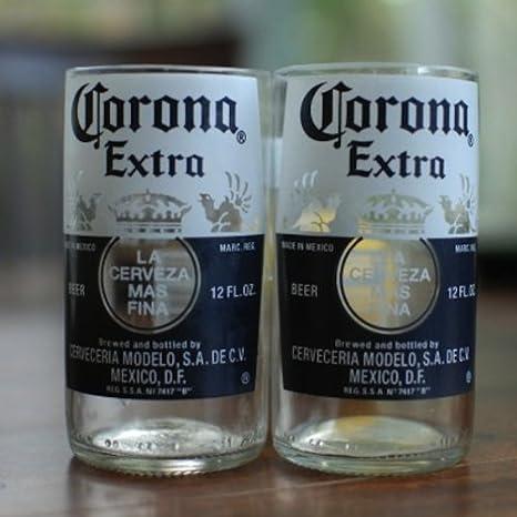 Amazon.com: Corona Extra Jugo de vidrio (1) – Reciclado ...