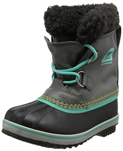 Yoot Pac Snow Boot (Sorel Girls' Childrens Yoot Pac Nylon, Quarry, Dolphin, 13 M US Little Kid)