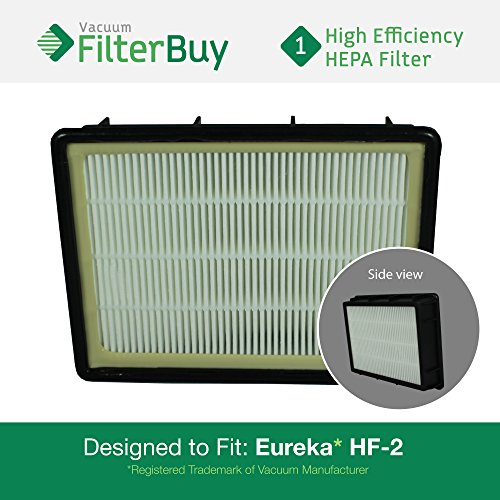 - Eureka HF-2 (HF2) HEPA Replacement Filter, Part # 61111, 61111A, 61111B. Designed by FilterBuy to fit Eureka Ultra SmartVac Upright Vacuum Cleaner