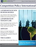 Competition Policy International: 2015 Journal: Antitrust and New Business Models