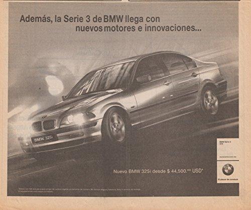 2001-bmw-325i-sedan-ademasllega-con-nuevos-motores-vintage-newspaper-non-color-ad-mexico-spanish-nic